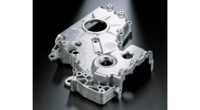 Delicate die casting example of a transmission housing (small)