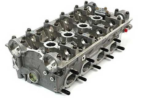 A cylinder head casting processed by Rosler's RROB