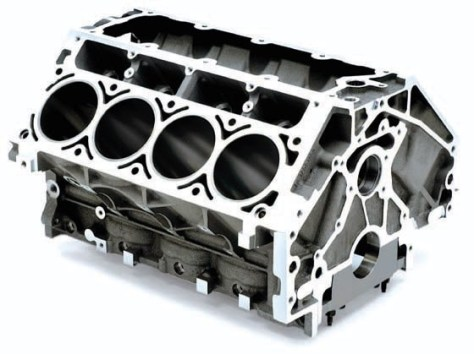 An engine block processed by Rosler's RMBS