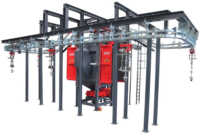 Rosler RHBD Continuous Spinner Hanger Machine
