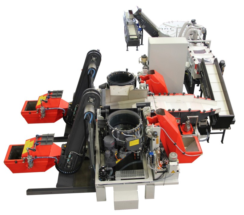 Automated FKS System also known as a Linked Dual Centrifugal Disk Finishing System