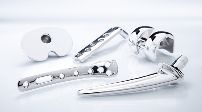 medical parts after processing with mass finishing