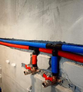 Монтаж труб из сшитого полиэтилена