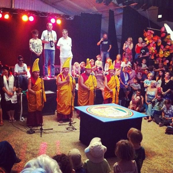 Sand Mandala Dissolution Ceremony