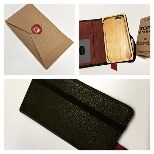 New Little Pocket Book handcrafted leather & Baltic birch iPhone 6 case/wallet