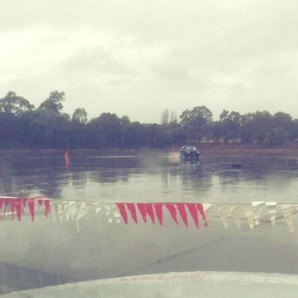 Motokhana in the rain