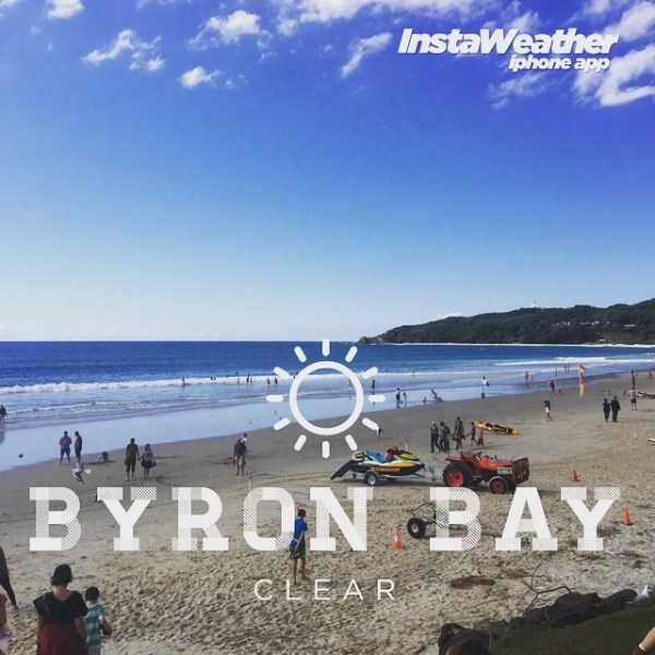 Another beautiful day in Byron Bay