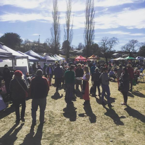 A busy Sunday at the Farmers'