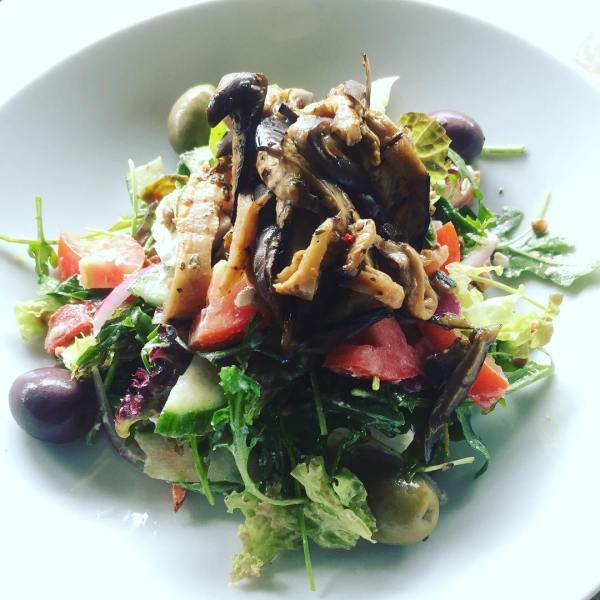 Grilled Eggplant & Lentil Salad