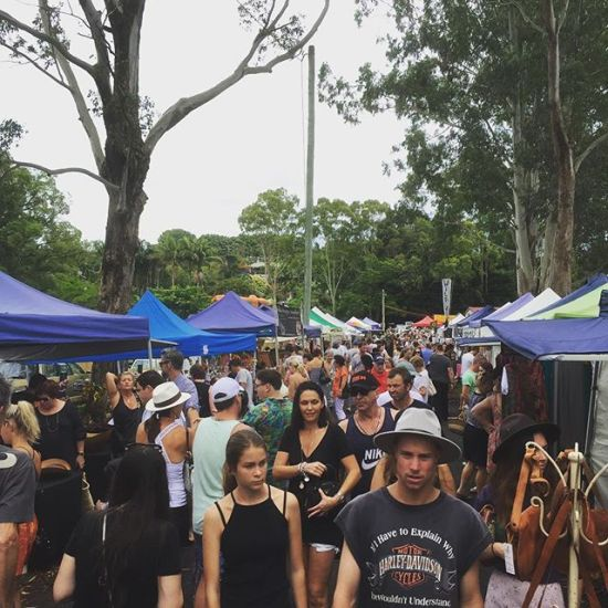 Busy Bangalow Markets