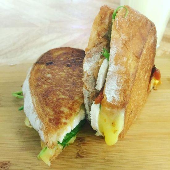 Chicken & mango toasted sandwich