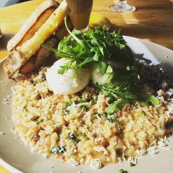 Breakfast risotto