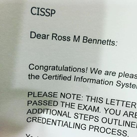 W00t! Passed the epic CISSP exam
