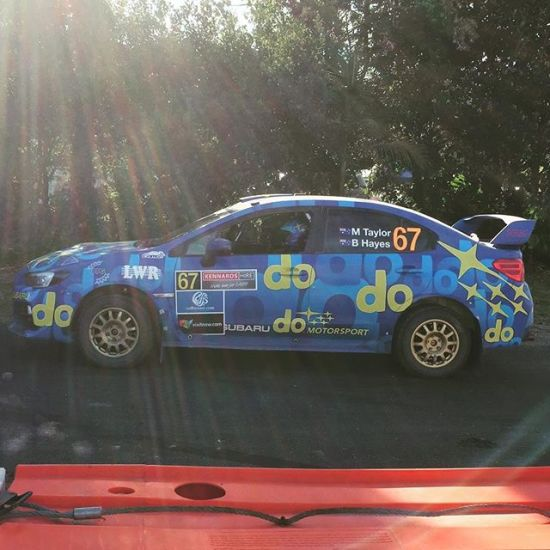 Molly Taylor's blue Subaru do DNSW SSS