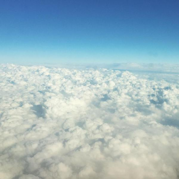 With oceans of clouds I make triple offerings...