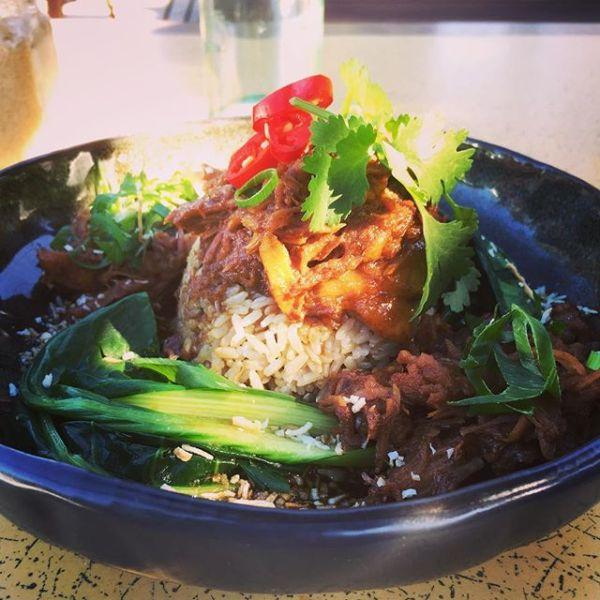 Pulled Pork w/ Asian Greens & fragrant jasmine rice