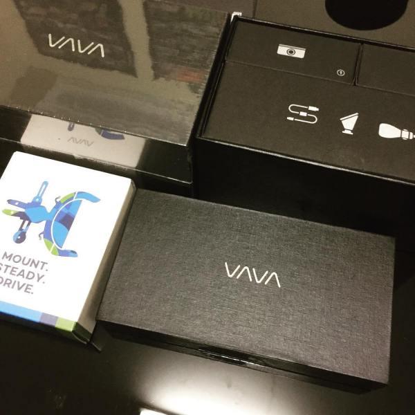 Pretty packaging... @letsvava VAVA DashCam @kickstarter arrived today