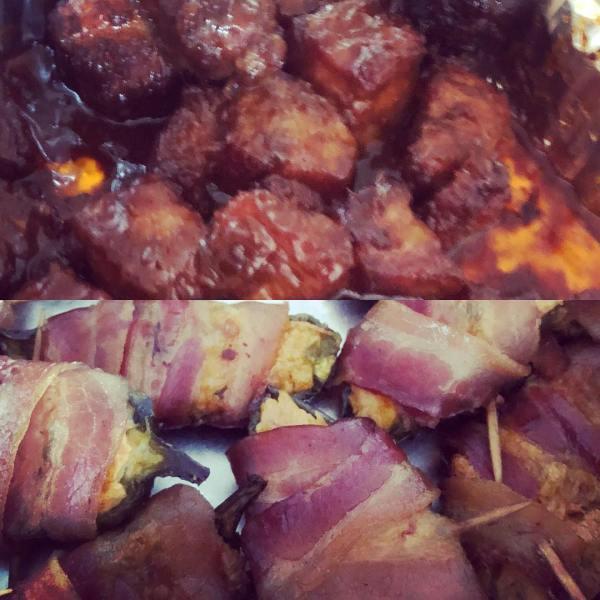 Pork Belly Burnt Ends & Smoked Jalapeño Poppers