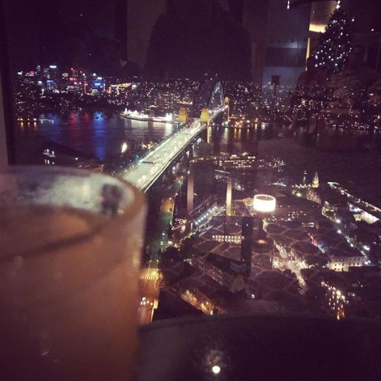 A drink (Penicillin) with a view... at bar blu...