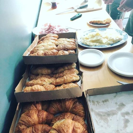 ITD's traditional Christmas croissant brunch