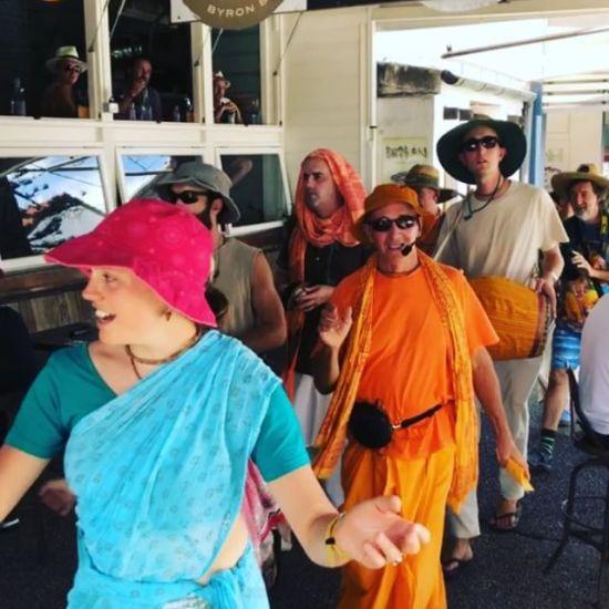 """Hare Krishna Hare Krishna, Krishna Krishna Hare Hare, Hare Rama Hare Rama, Rama Rama Hare Hare"""