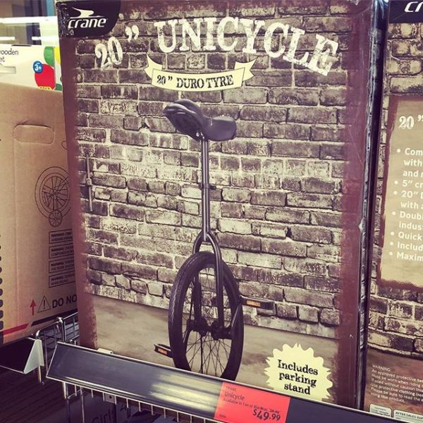 The ALDI Unicycle is real #why?