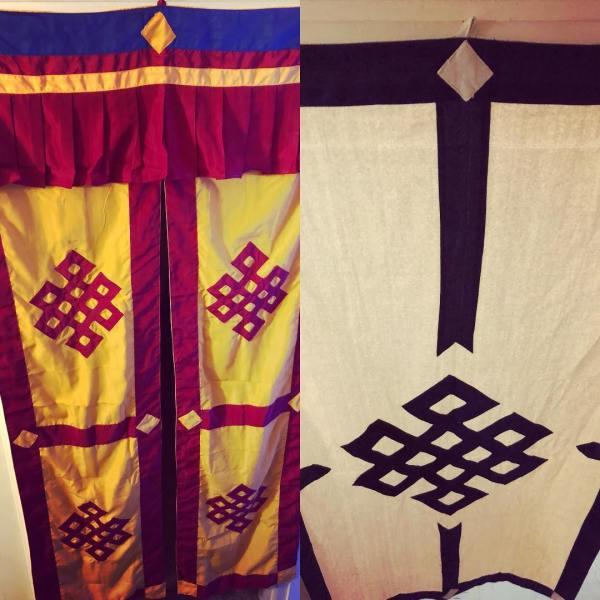 New door curtains from Chenrezig Institute