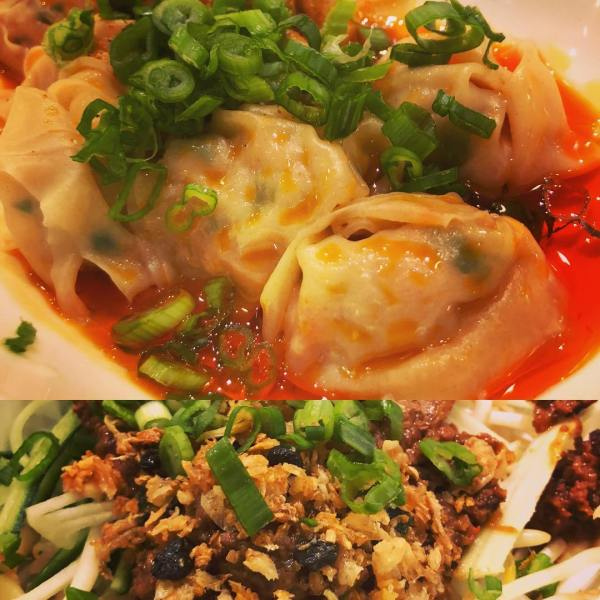 Eater award winning and recommended by Neil Perry... Sichuan 'Workings Hands' Dumplings 🥟 & 'Marco Polo' noodles   @chefneilperry @chinalivesf
