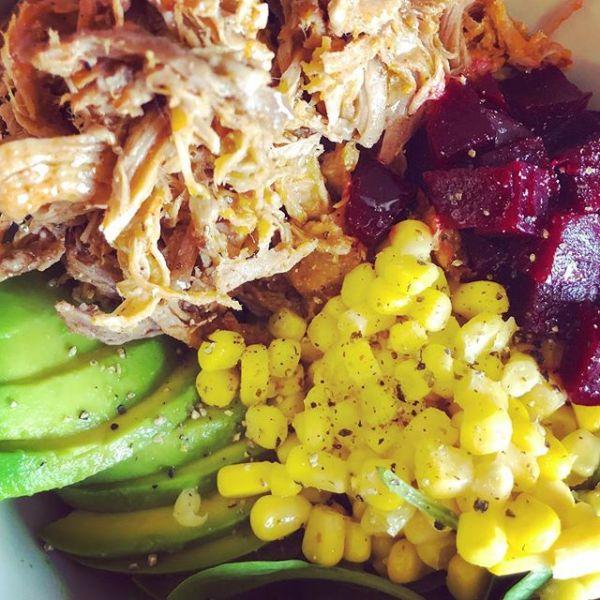 Pulled Pork salad bowl