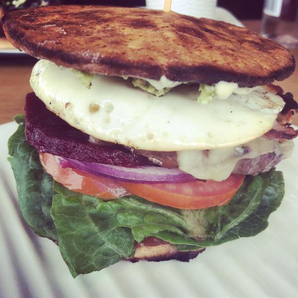 Queensland burger on low-carb bun
