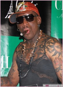 Dennis Rodman Launches His Cigar Line at 50th Birthday Celebration