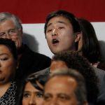 Obama's Heckler, Ju Hong, A Prop-ed Plant