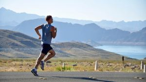 Runner Doing Lactate threshold workout