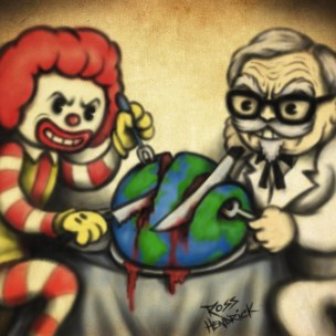 evil ronald mcdonald kfc