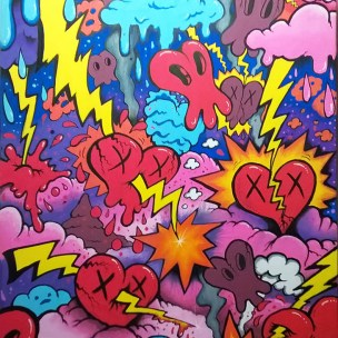 love lightning low brow graffiti pop art