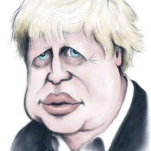 bojo boris johnson caricature cartoon