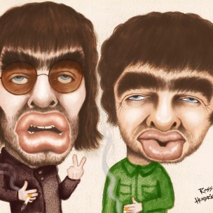 oasis gallaghers caricature