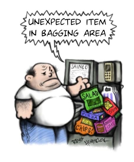 tesco sainsburys exeter artist joke cartoon