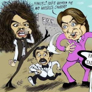 russell brand and jonathon ross cartoon caricature