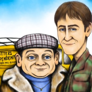 del boy and rodney caricature signed