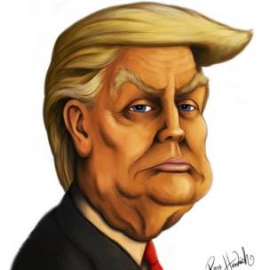 donald trump caricature cartoon