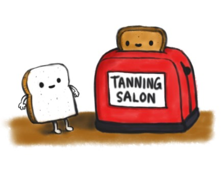 toast toaster suntan