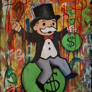 mr monopoly graffiti pop art