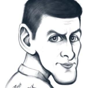 djokovic caricature cartoon