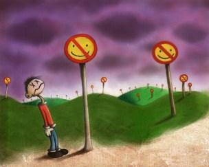 pop surrealism depression painting