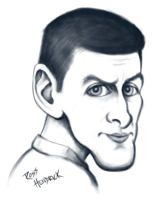 novak djokovic caricature cartoon