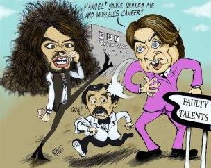 russell brand jonathon ross sachsgate caricature cartoon