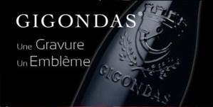 Bouteille armoriée Gigondas