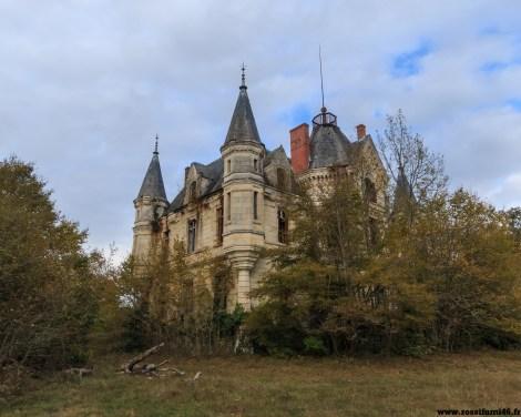 Un château qui n'est que coquille. Totalement pillé, tous les murs tagués. Livré à son sort, entouré de chasseurs qui le conservent pour son domaine.