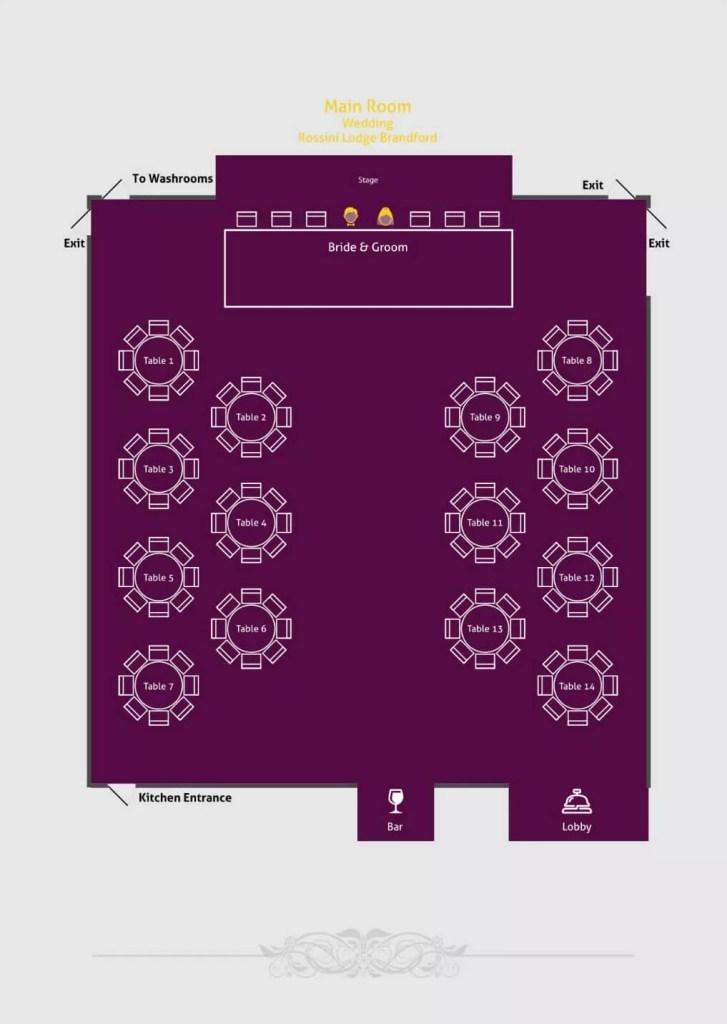 Rossini Floor Plan Main Hall